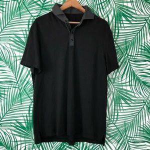 Men's Lululemon Black Athletic Polo Button Shirt